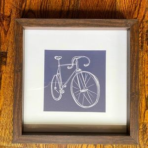 "Bicycle Bike Shadow Box Framed Art 12""x12"""
